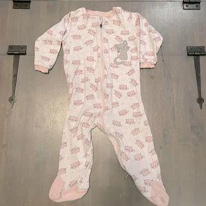 4/$15🌸 Baby Girl Zip-up Sleeper 9M